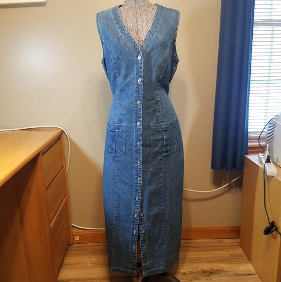 Faded Glory Denim Dress XL